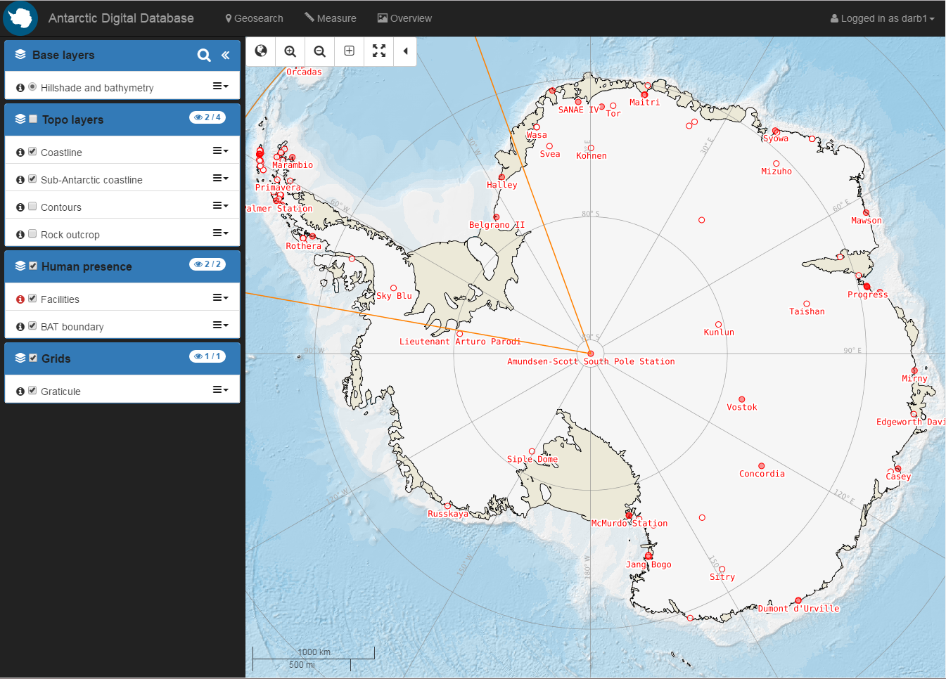 Antarctic Digital Database Mapping Services on